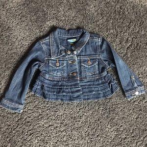 Girls ruffle jean jacket 18 months